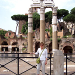 Carolyn at Ancient Roman Forum